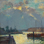 Картины с аукционов Sotheby's - Albert Lebourg - The Port and the Cathedral of Rouen, 1892