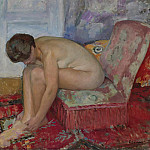 Female Nude Seated, Анри Лебаск