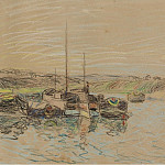 Картины с аукционов Sotheby's - Alfred Sisley - The Channel of Loing at Saint-Mammes, 1888