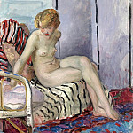 Nude in Armchair, 1923, Анри Лебаск