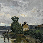 Картины с аукционов Sotheby's - Albert Lebourg - The Seine at Canteleau ain Summer, 1882