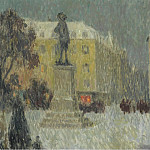 Sotheby's - Henri Le Sidaner - Hoche Square, Versailles, 1939