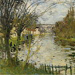 Sotheby's - Pierre-Eugene Montezin - Village at the Bank of the River