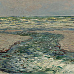 The Seacoast of Pourville, Low Tide, 1882, Claude Oscar Monet
