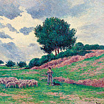 Sotheby's - Maximilien Luce - Mereville, Flock of Lambs, 1902-03
