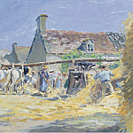 Sotheby's - Ludovic Piette - Hay Moving at Montfoucault, 1876