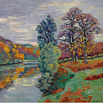 Картины с аукционов Sotheby's - Armand Guillaumin - The Echo Rock, Crozant, 1913