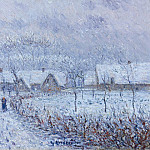 Картины с аукционов Sotheby's - Gustave Loiseau - Wind with Snow, 24 March 1899, Saint-Cyr-du-Vaudreuil, 1899