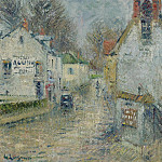 Sotheby's - Gustave Loiseau - Street of Pontoise, 1914
