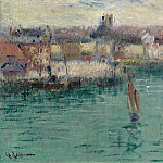 Картины с аукционов Sotheby's - Gustave Loiseau - Dieppe, the Port of Avant, 1929