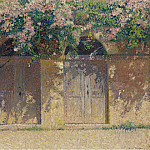 Sotheby's - Henri Martin - The Pair of Gates under the Dog-Rose in Bloom