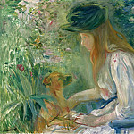 Young Woman with the Dog, 1892, Berthe Morisot
