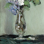 Картины с аукционов Sotheby's - Джон Дункан Fergusson - Still Life of Primulas in a Glass Vase, 1903