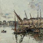 The Port of Trouvill, Marine Basin, 1894, Eugene Boudin