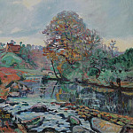 Sotheby's - Armand Guillaumin - Landscape of the Creusa, View on the Bridge of Charraud, 1901