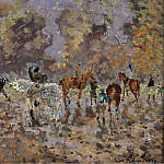 Картины с аукционов Sotheby's - Andre Hambourg - Full Gallop, October 6