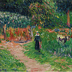 Картины с аукционов Sotheby's - Henry Moret - Shepperdess of the Cows