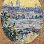 Картины с аукционов Sotheby's - Люс, Максимильен - Montebello Quay and Sainte-Genevieve Hill, Paris, 1901