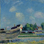 Sotheby's - Alfred Sisley - Boats on Repair at Saint-Mammes, 1880