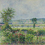 Картины с аукционов Sotheby's - Camille Pissarro - The Valley of the Siene near Damps, the Garden of Octave Mirbeau, 1892