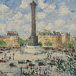 The Square of Bastille, 1927, Gustave Loiseau