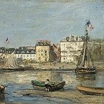 Картины с аукционов Sotheby's - Eugene Boudin - Trouvillle, the Port, 1880-85