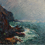 Картины с аукционов Sotheby's - Gustave Loiseau - The Cliffs in Normandie
