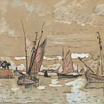 Sotheby's - Paul Signac - Boats of Honfleur, 1922