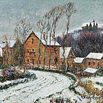 Sotheby's - Gustave Loiseau - The Snow at Puys near Dieppe, 1904
