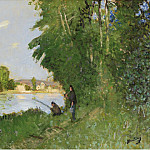 Sotheby's - Pierre-Eugene Montezin - Landscape with Two Fishermen