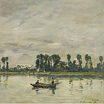 Картины с аукционов Sotheby's - Eugene Boudin - Caudebec-en-Caux, the Banks of the Seine, 1892