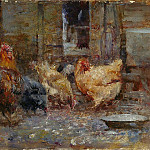 Sotheby's - Frederick McCubbin - Chickens, 1901