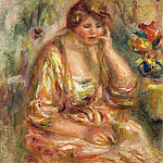 Sotheby's - Pierre Auguste Renoir - Andree in a Pink Dress, 1917