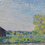 Sotheby's - Alfred Sisley - Landscape with the Stack of Firewood, 1877