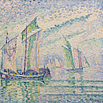 Картины с аукционов Sotheby's - Paul Signac - The Channel of La Roshelle, 1927