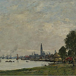 Sotheby's - Eugene Boudin - Anvers, the Port, View to the North Citadel, 1971