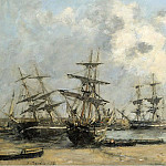 Sotheby's - Eugene Boudin - Portrieux, Vessels in the Port, 1873