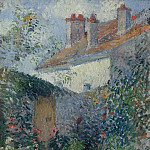 Sotheby's - Camille Pissarro - The Houses at Pontoise, 1878