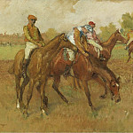 Before the Race, 1882-88, Edgar Degas