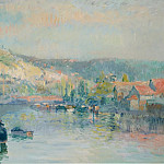 Sotheby's - Albert Lebourg - Sailing Boat at the Bank of the Seine near Rouen