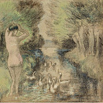 Bathing with Geese, 1895, Camille Pissarro
