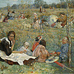 Sotheby's - Isaak Brodsky - Nanny with Children