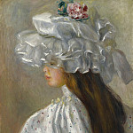 Sotheby's - Pierre Auguste Renoir - Young Woman in White Head, 1892