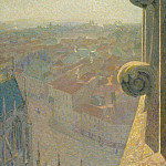 Sotheby's - Michel Auguste Colle - Nancy, View of the Cathedral, Saint-Eprve (by the Sun), 1907