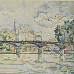 Картины с аукционов Sotheby's - Paul Signac - Paris, the Bridge of Arts