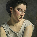 Young Woman Lowering Head, 1868, Frederic Bazille