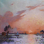 Картины с аукционов Sotheby's - Ferdinand du Puigaudeau - Sunset in Briere, 1925