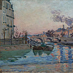 Paris, the Bridge of Marie, 1882, Арман Гийомен