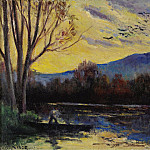 Sotheby's - Maximilien Luce - Moulineux, Sunset over the Etang