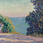 Картины с аукционов Sotheby's - Armand Guillaumin - August Evening at Saint-Palais, 1909